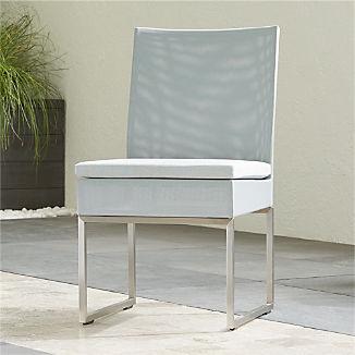 Dune Light Grey Dining Side Chair with Sunbrella ® Cushion