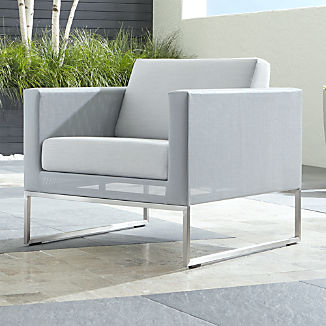 Dune Light Grey Lounge Chair with Sunbrella ® Cushions