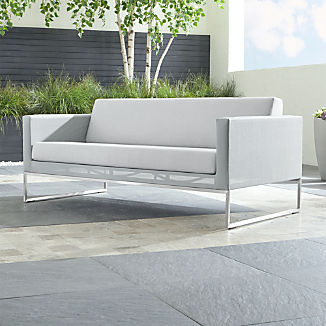Dune Light Grey Sofa with Sunbrella ® Cushions