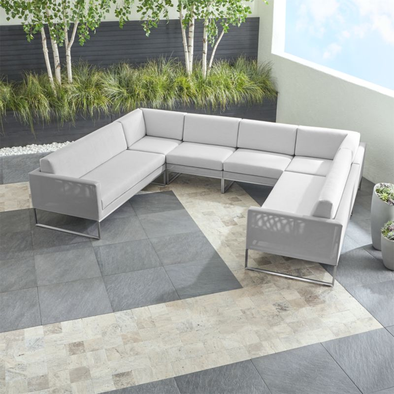 Outdoor Sectional Sofa Images: Dune Grey U-Shaped Outdoor Sectional + Reviews