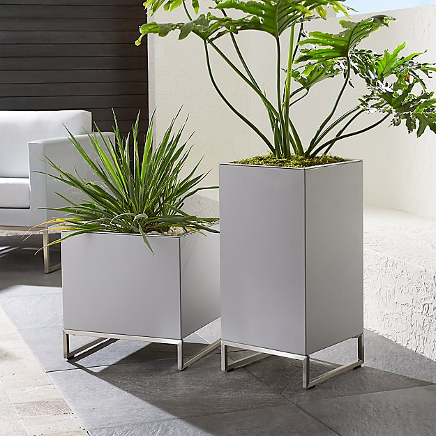 dune planters crate and barrel. Black Bedroom Furniture Sets. Home Design Ideas