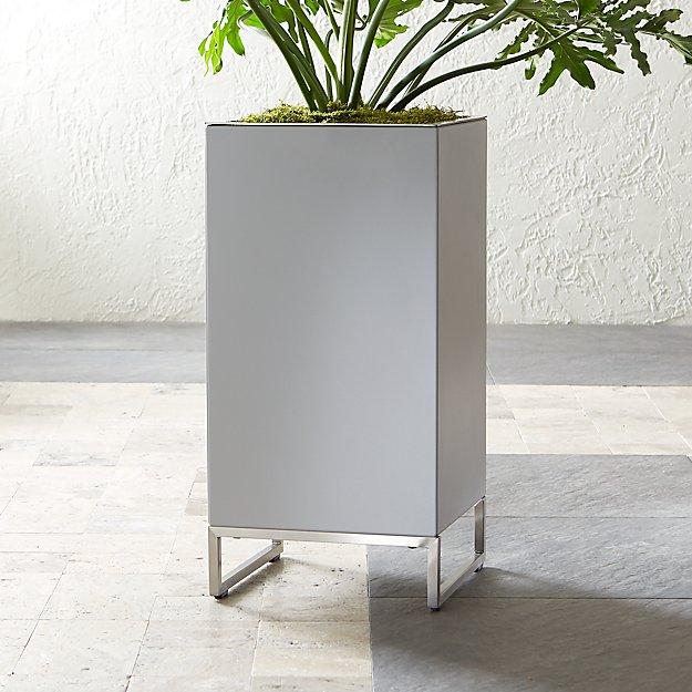 dune tall planter reviews crate and barrel. Black Bedroom Furniture Sets. Home Design Ideas