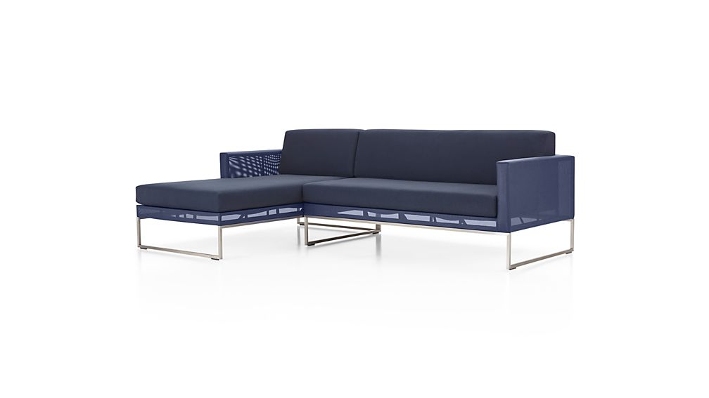 Dune 2-Piece Left Arm Chaise Sectional with Sunbrella ® Cushions