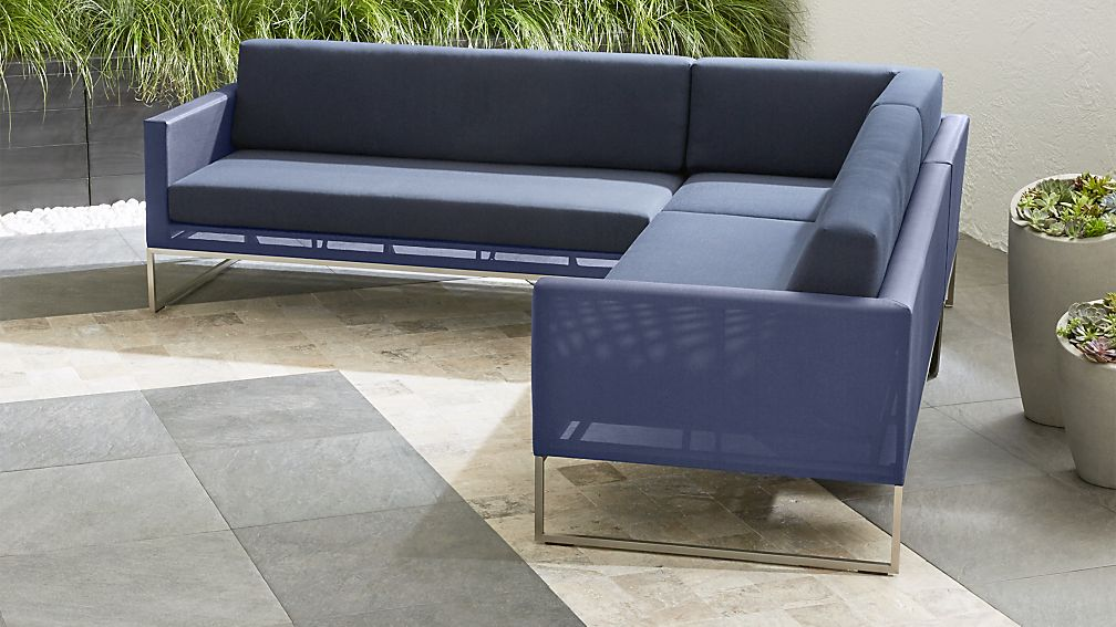 Dune 3 Piece Sectional Sofa With Cushions