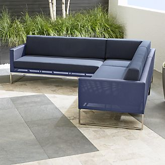 Great Contemporary Patio Furniture: Dune. Dune Outdoor Living Room. Dune 3 Piece  Sectional Sofa With Cushions