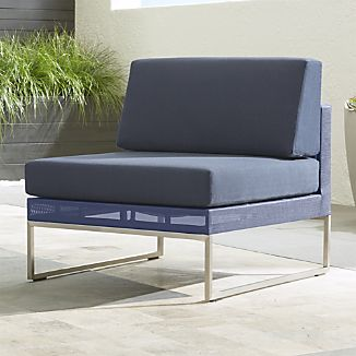 Dune Armless Chair with Sunbrella ® Cushions
