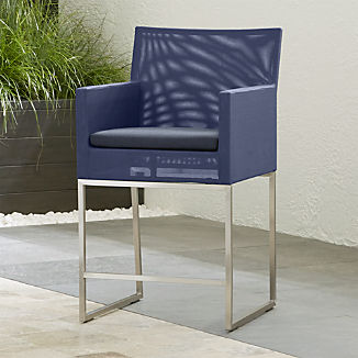 Dune Navy Counter Stool with Sunbrella ® Cushion