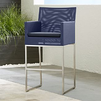 "Dune 30"" Bar Stool with Sunbrella ® Cushion"