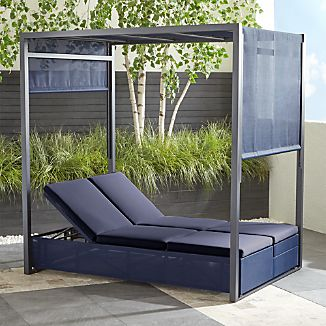 Double Chaise Lounge Outdoor Furniture Crate And Barrel