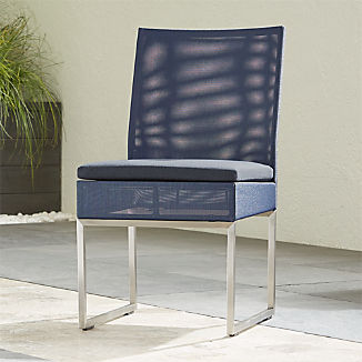 Dune Navy Dining Side Chair with Sunbrella ® Cushion