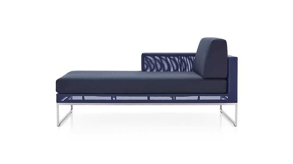 Dune Left Arm Chaise with Sunbrella ® Cushions