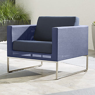 Dune Navy Lounge Chair with Sunbrella ® Cushions
