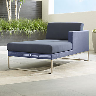 Dune Navy Right Arm Chaise with Sunbrella ® Cushions
