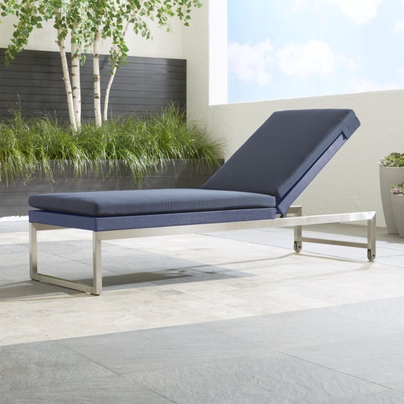 Dune Blue Outdoor Chaise Lounge + Reviews