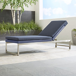 Dune Navy Chaise Lounge with Sunbrella ® Cushion