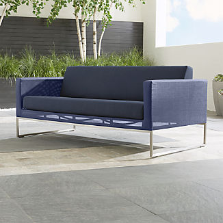 Dune Navy Sofa with Sunbrella ® Cushions
