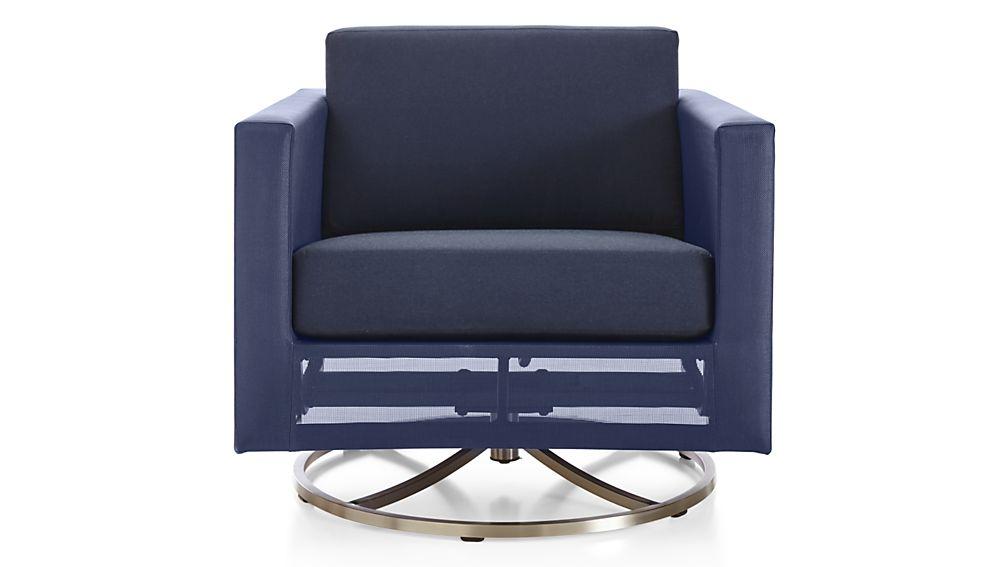 Dune Swivel Lounge Chair with Sunbrella ® Cushions