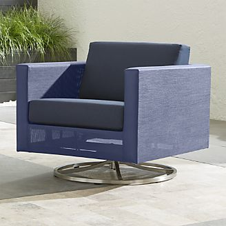 dune swivel lounge chair with sunbrella cushions - Patio Lounge Chairs