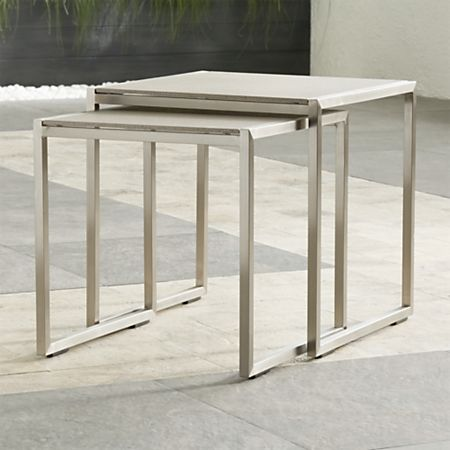 Prime Dune Nesting Tables With Pebbled Glass Set Of Two Machost Co Dining Chair Design Ideas Machostcouk