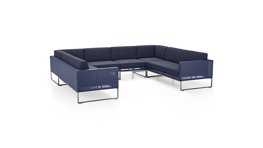 ... Dune 6-Piece Sectional Sofa with Cushions  sc 1 st  Crate and Barrel : 6 piece sectional couch - Sectionals, Sofas & Couches