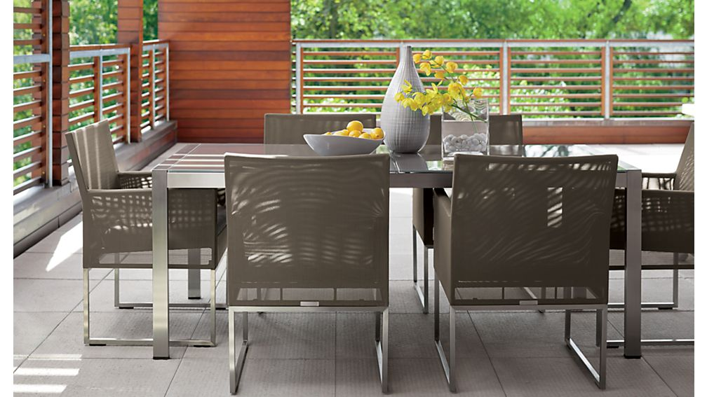 Dune Rectangular Dining Table with Taupe Painted Glass