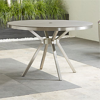 Dune Round Dining Table with Pebbled Glass