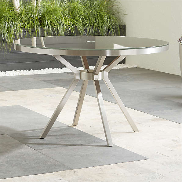 Outdoor Dining Tables Metal Glass More Crate And Barrel