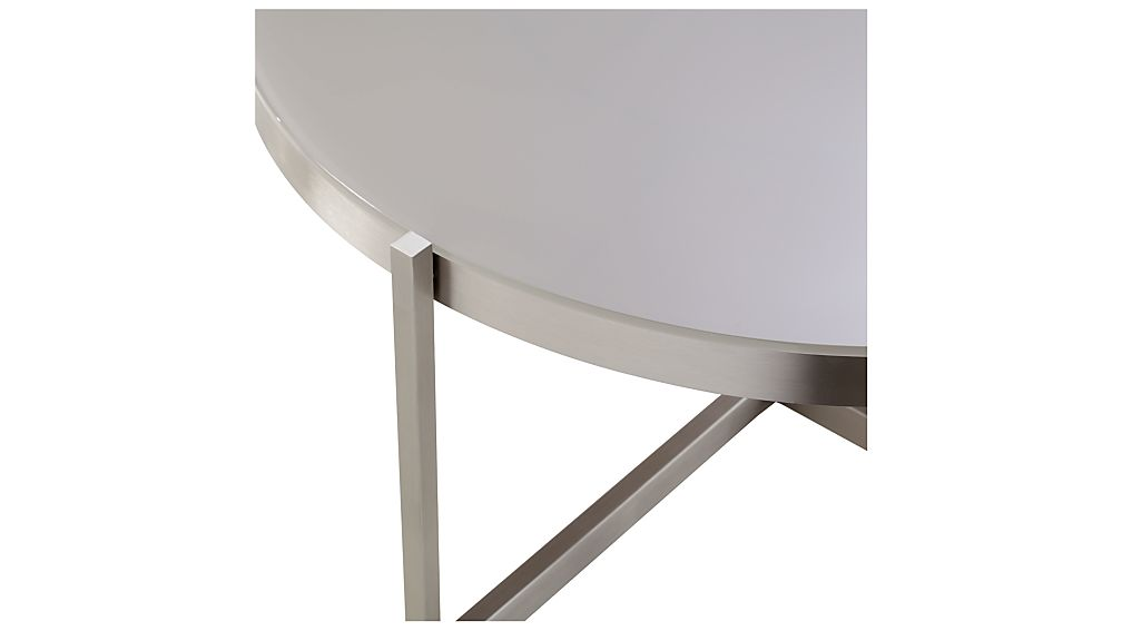Dune Round Coffee Table with Taupe Painted Glass