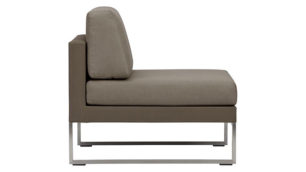 Dune Armless Chair with Sunbrella ® Cushions