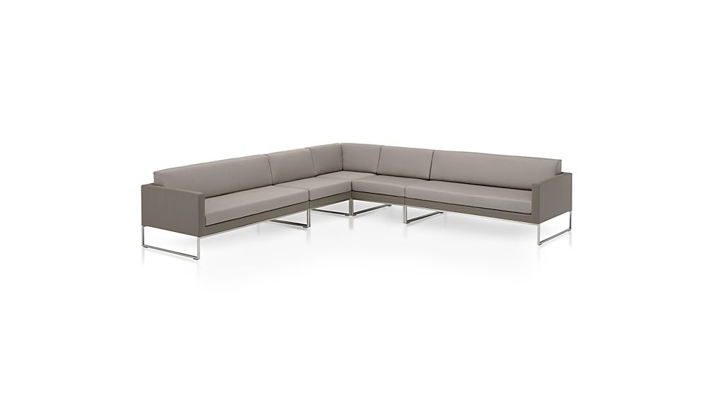 Dune 5-Piece Sectional Sofa with Sunbrella ® Cushions