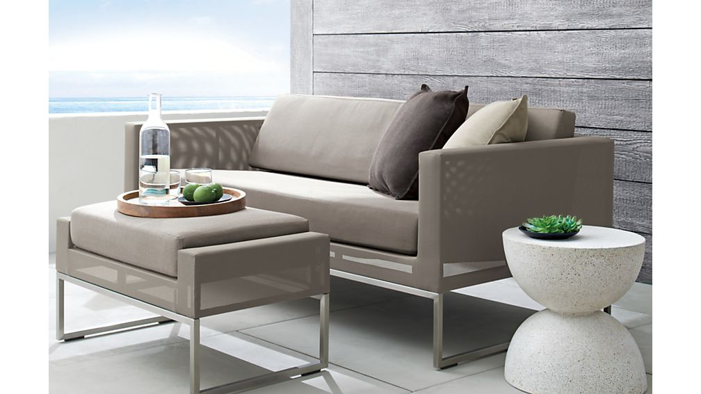 Dune Ottoman with Sunbrella ® Cushion