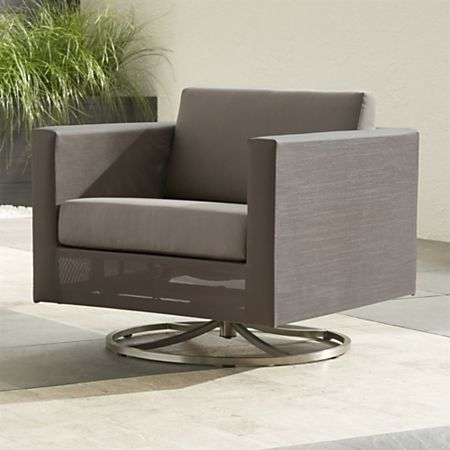 Strange Dune Taupe Swivel Lounge Chair With Sunbrella Cushions Pabps2019 Chair Design Images Pabps2019Com