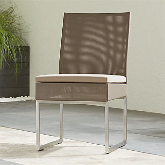 Dune Taupe Dining Side Chair with Sunbrella ® Cushion