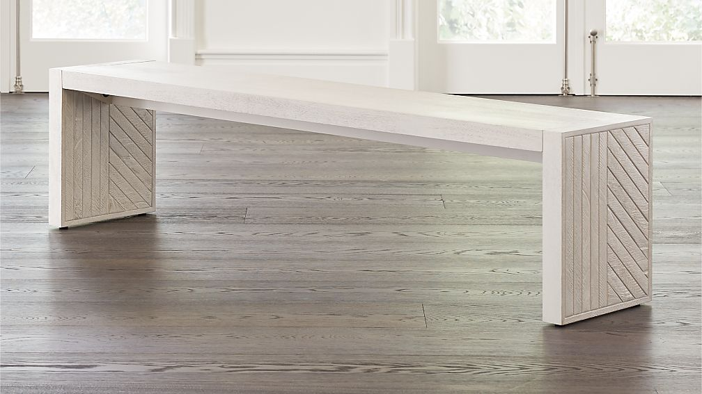 Dunewood Whitewashed Dining Bench - Image 1 of 7