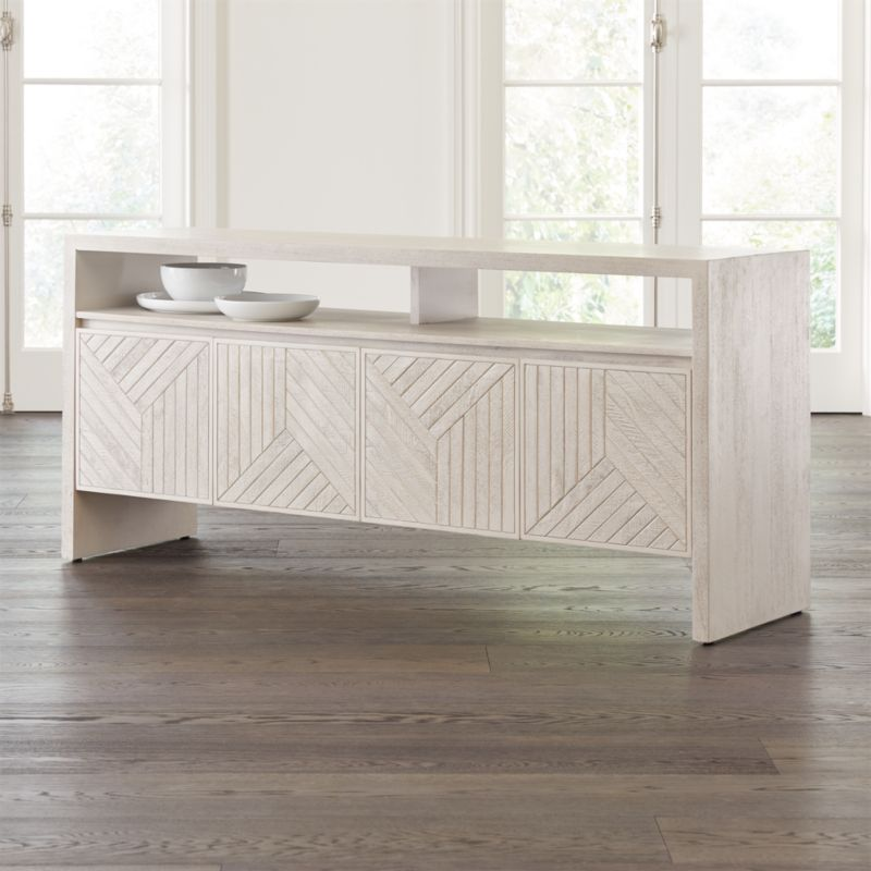 Dunewood Whitewashed Sideboard Reviews Crate And