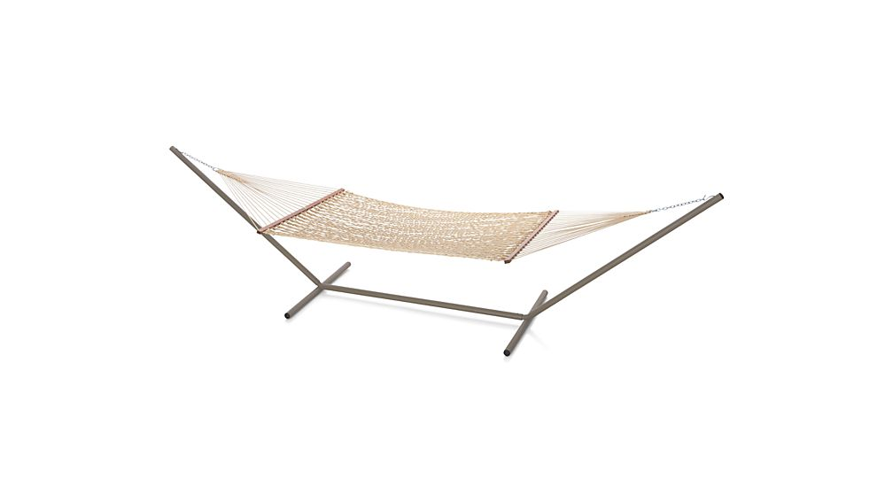 DuraCord ® Oatmeal Hammock with Stand