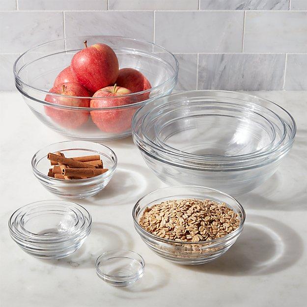 Duralex Glass Bowls, Set of 10 - Image 1 of 9