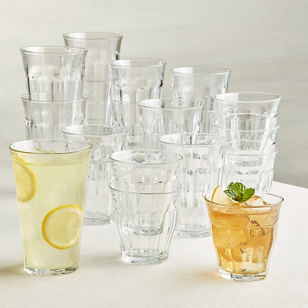 Duralex 174 Picardie Glass Tumblers Set Of 18 Crate And