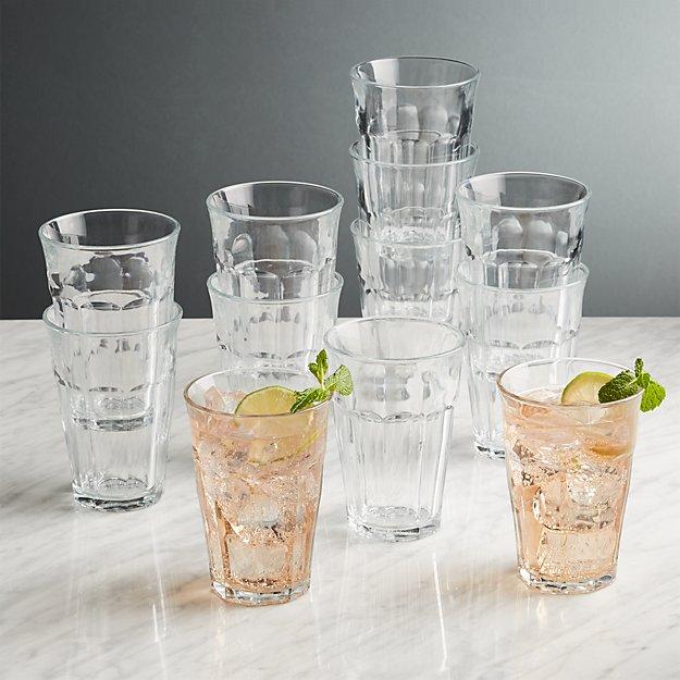Duralex Picardie 12.5 Oz Glasses, Set of 12