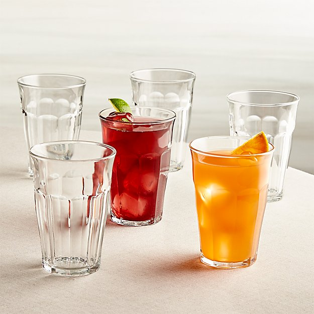 Duralex ® Picardie 12.5 oz. Glasses Set of 6