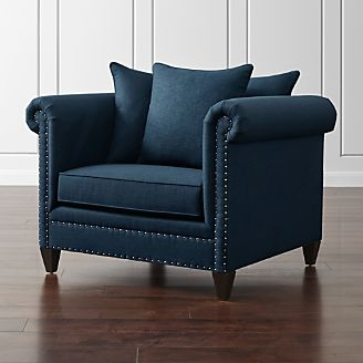color trend decorating with blue crate and barrel. Black Bedroom Furniture Sets. Home Design Ideas