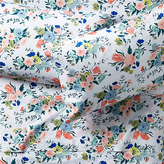 Organic Dutch Floral Sheet Sets - Image 1 of 5