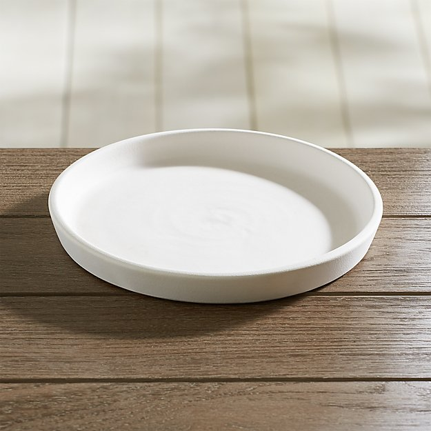 Dyp Large White Saucer Reviews Crate And Barrel