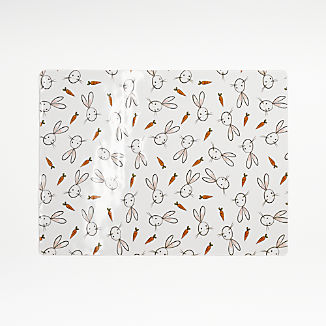 Easter Bunny and Carrots Easy-Care Placemat