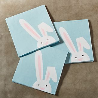 Easter Bunny Paper Lunch Napkins Set of 20