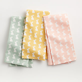 Easter Bunny Dish Towels, Set of 3
