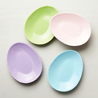 Easter Egg Plates Set of Four