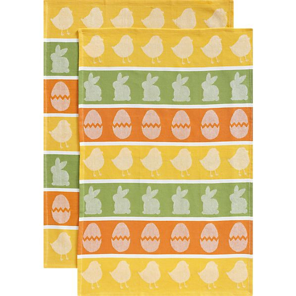Set of 2 Easter Jacquard Dishtowels