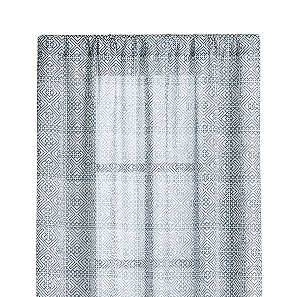 "Easton 48""x96"" Blue Curtain Panel"