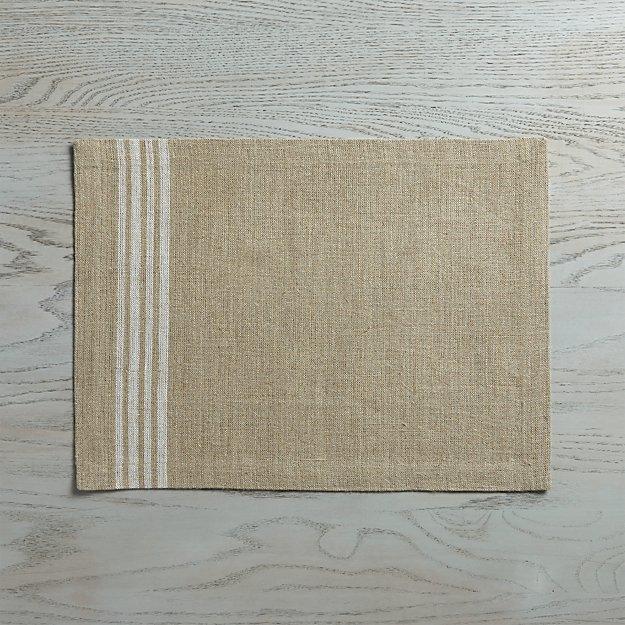 Easton White Stripe Placemat - Image 1 of 3